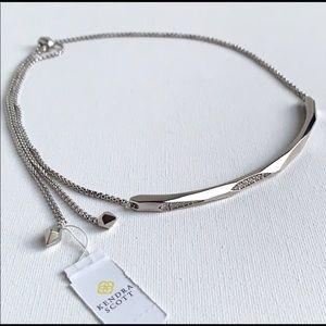 Kendra Scott Graham adjustable necklace silver bar